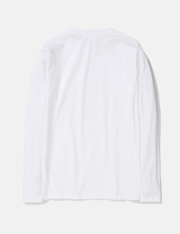 Norse Projects Niels Long Sleeve T-Shirt (Organic Cotton) - White