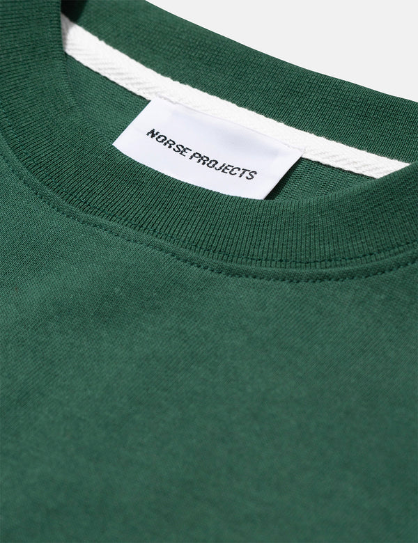 Norse Projects Johannes Pocket Langarm T-Shirt - Dartmouth Green