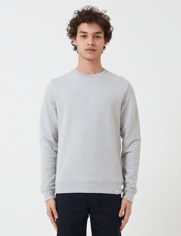 Sweat à capuche Norse Projects Vagn Classic Crew (Coton 445 g/m2) - Light Grey Heather
