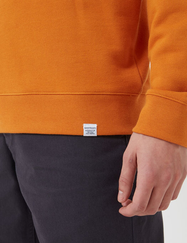 Norse Projects Vagn Classic Crew Sweatshirt (445gsm Cotton) - Cadmium Orange