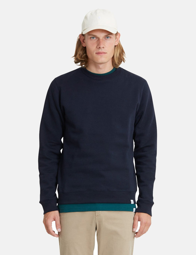 Norse Projects Vagn Classic Crew Sweatshirt (445gsm Cotton) - Navy Blue