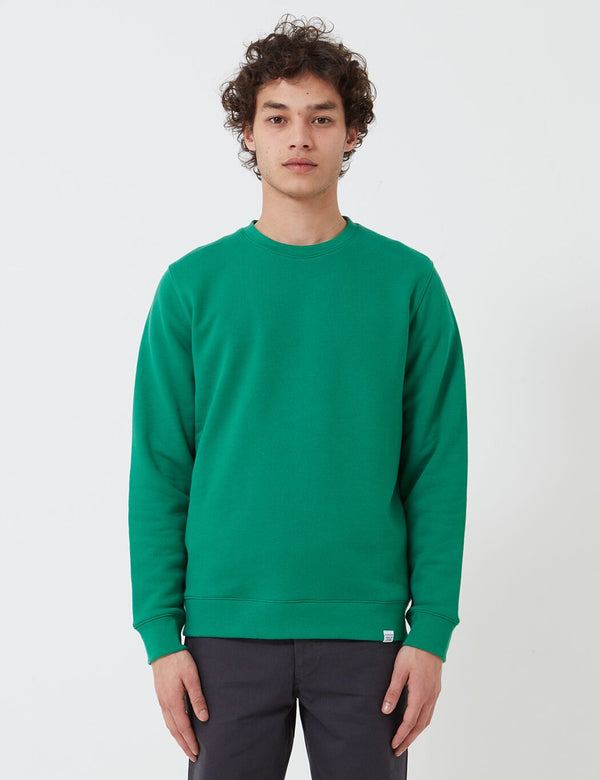 Norse Projects Vagn Classic Crew Sweatshirt (445gsm Cotton) - Sporting Green