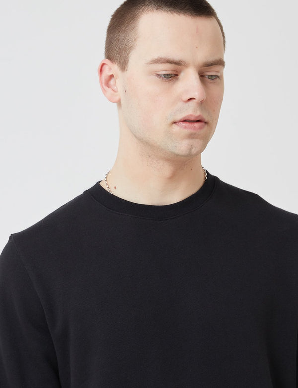 Norse Projects Vagn Classic Sweatshirt (445gsm Cotton) - Black