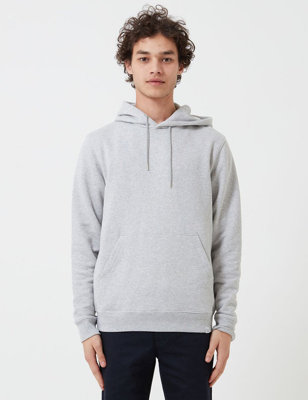 Norse Projects Vagn Classic Hoodie (445gsm Cotton) - Light Grey Melange