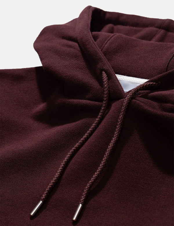 Norse Projects Vagn Classic Hooded Sweatshirt - Eggplant Brown