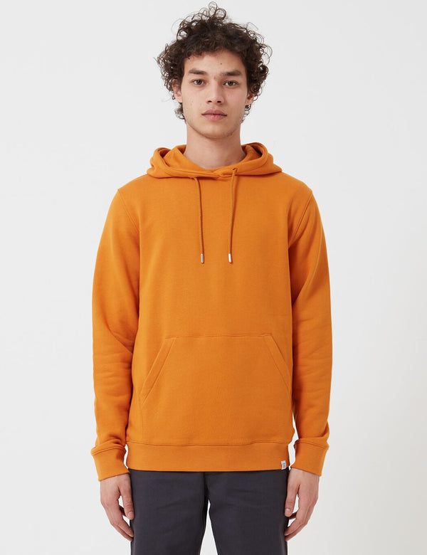 Norse Projects Vagn Classic Hoodie (445gsm Cotton) - Cadmium Orange