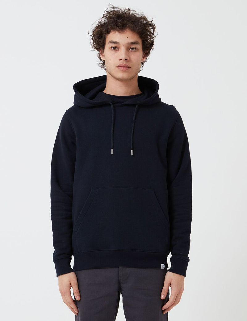 Norse Projects Vagn Classic Hoodie (445gsm Cotton) - Navy Blue