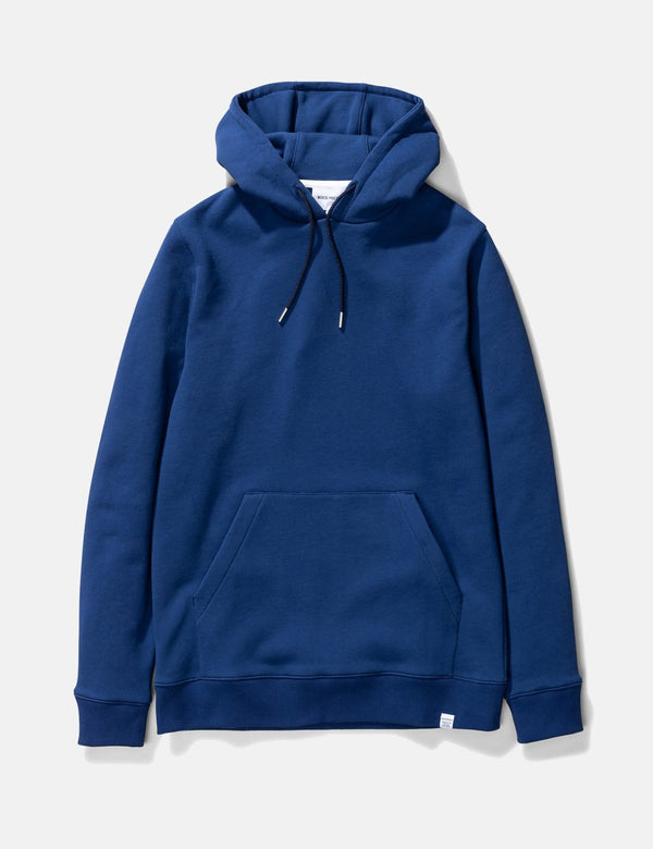 Norse Projects Vagn Classic Hoodie (445gsm Cotton) - Twilight Blue