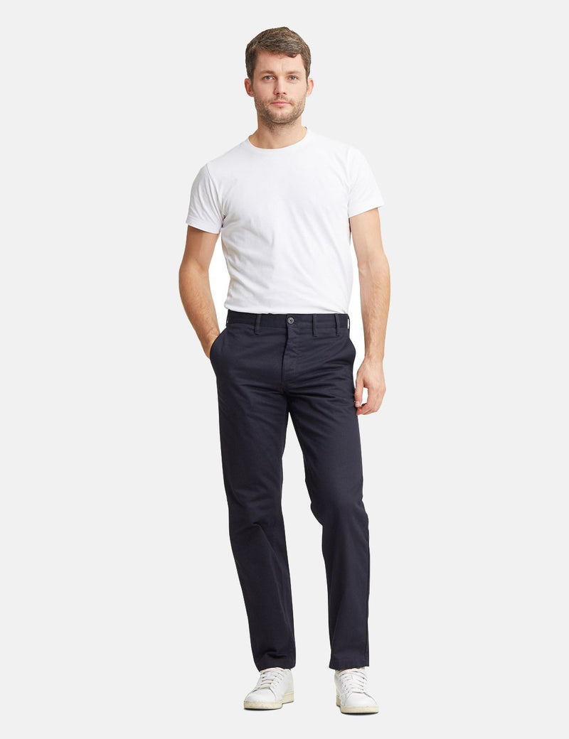 Norse Projects Aros Chino Trousers Heavy Cotton (Regular Fit) - Dark Navy Blue