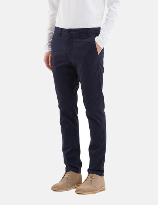Norse Projects Aros Chino Trousers Light Stretch (Slim Fit) - Dark Navy Blue