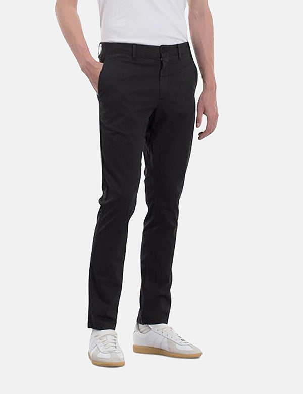 Norse Projects Aros Chino Trousers Light Stretch (Slim Fit) - Black