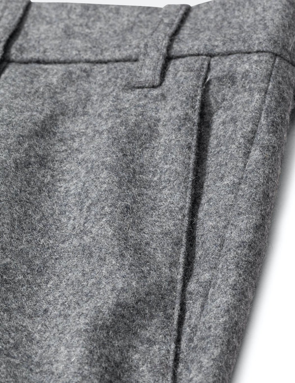 Norse Projects Aros Chino (Wool) - Charcoal Grey Melange