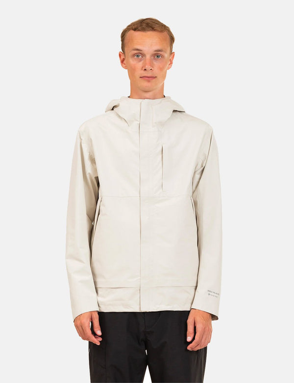 Norse Projects Fyn Shell Gore Tex 3.0 - Kit Weiß