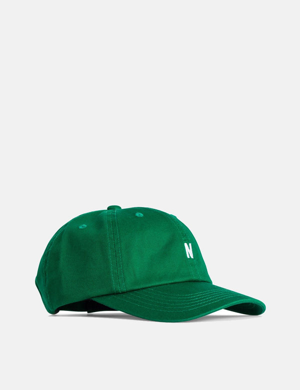 Norse Projects Twill Sports Cap (Cotton Twill) - Sporting Green