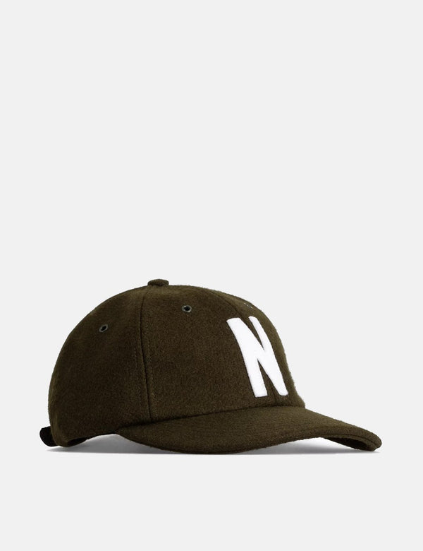 Norse Projects Wool Sports Cap (Wool)  - Beech Green