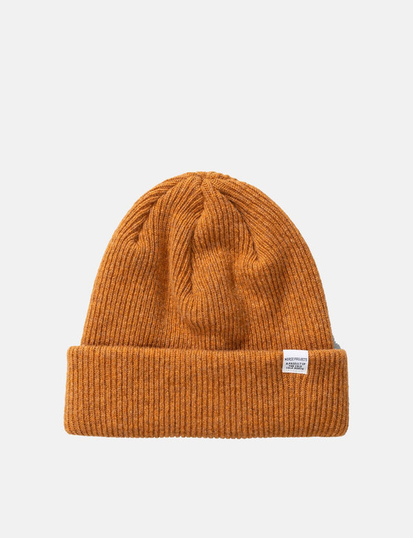 Norse Projects 'Norse' Beanie Hat Brushed (Lambs wool) - Montpellier Yellow