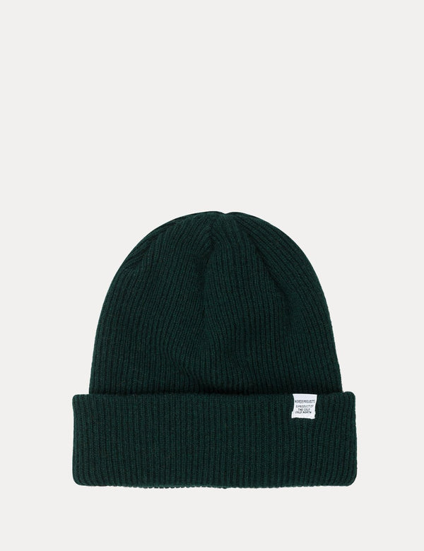 Norse Projects 'Norse' Beanie Hat Brushed (Lambswool) - Quartz Green