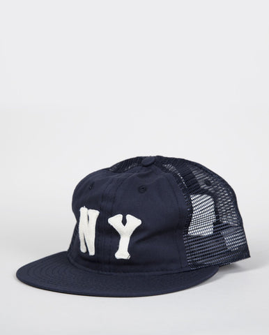 Ebbets Field Flannels New York Black Yankees 1936 Trucker Cap - Navy