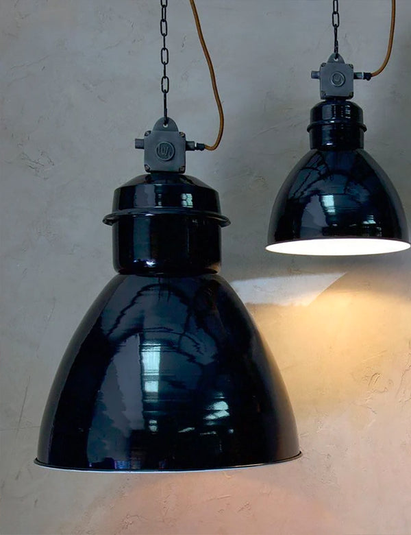 Nkuku Okello Industrial Pendant Light (Large) - Black