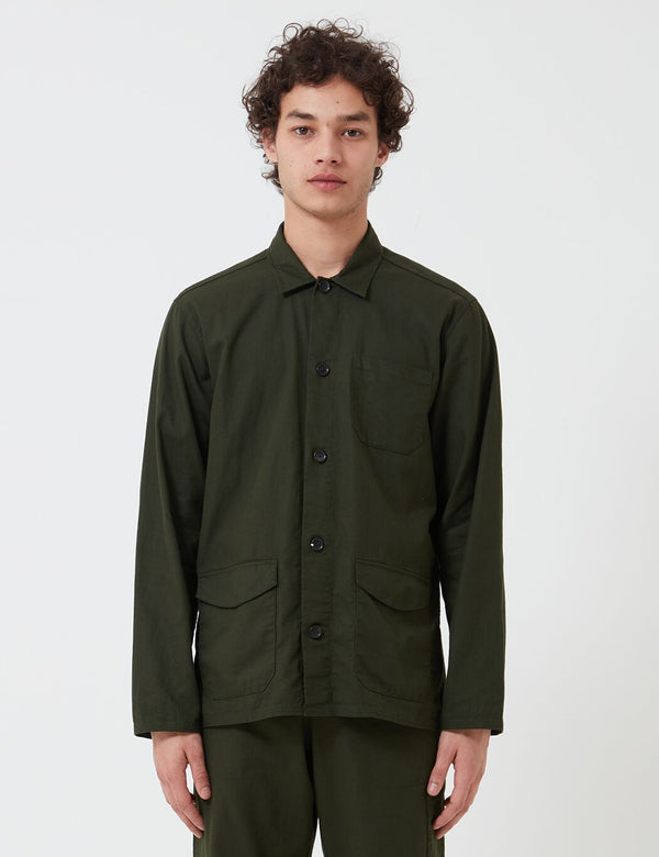 Oliver Spencer Hockney Jacket - Kildale Forest Green