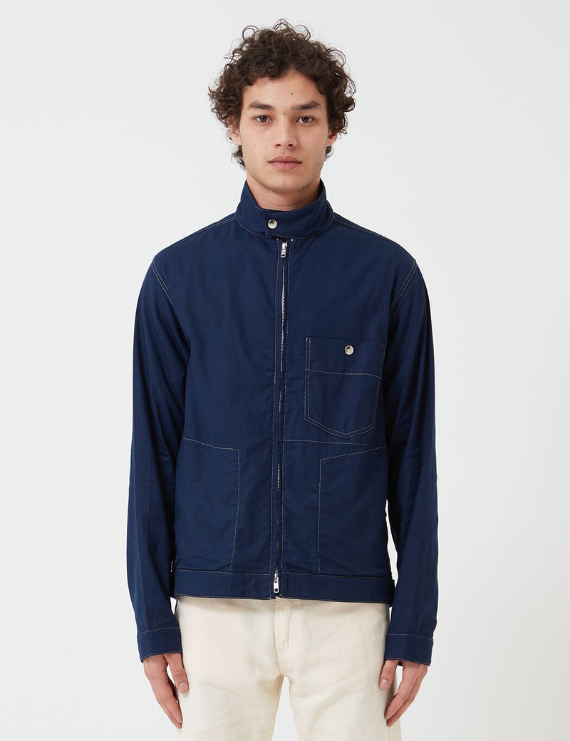 Oliver Spencer Carrington Jacket (Kildale) - Indigo Rinse