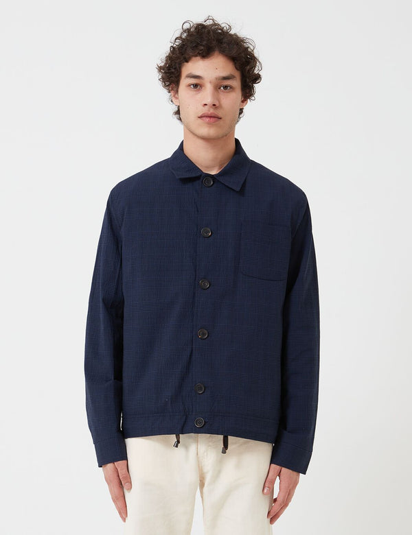 Oliver Spencer Buckland Jacket - Hesketh Navy Blue