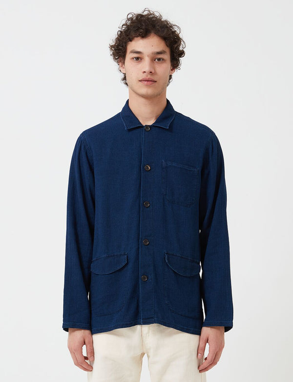 Oliver Spencer Hockney Jacket (Kildale) - Indigo Rinse