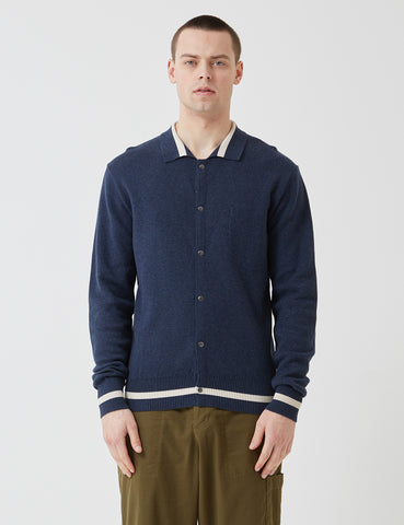 Oliver Spencer Roxwell Knitted Jacket - Rae Navy