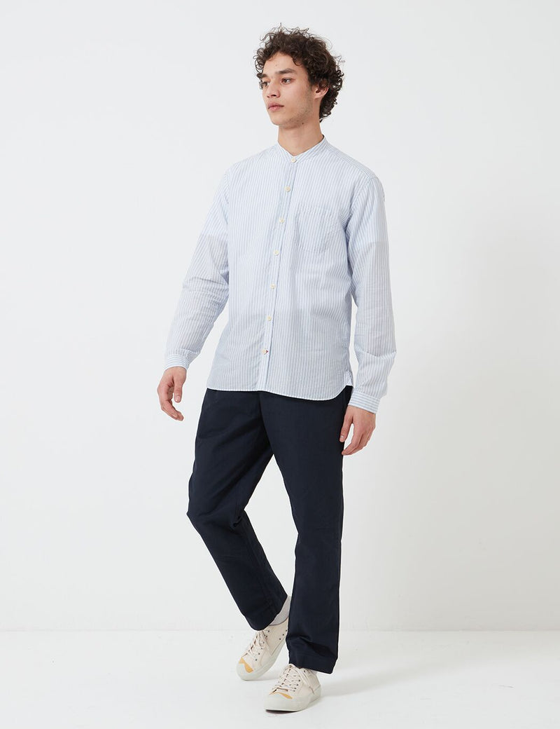 Oliver Spencer Grandad Shirt - Petworth Blue