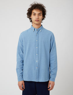 Oliver Spencer Brook Shirt - Kildale Indigo Light