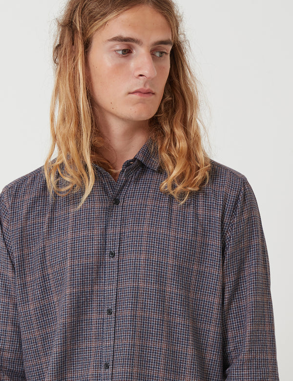 Oliver Spencer Clerkenwell Tab Shirt - Brookland Brown