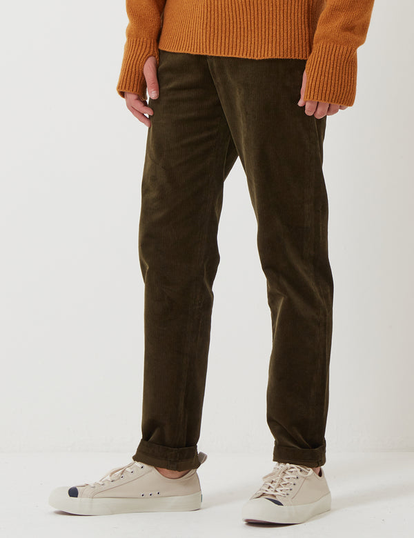 Oliver Spencer Fishtail Trousers - Penton Cord Green