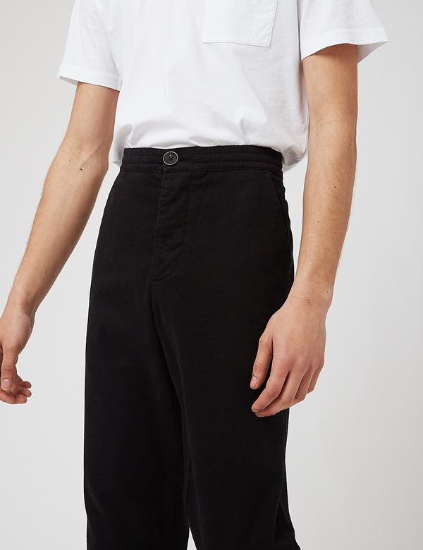 Oliver Spencer Drawstring Trousers - Eden Black