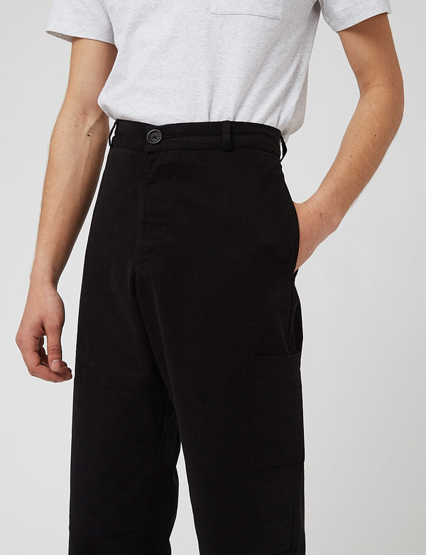 Oliver Spencer Judo Trousers - Eden Black