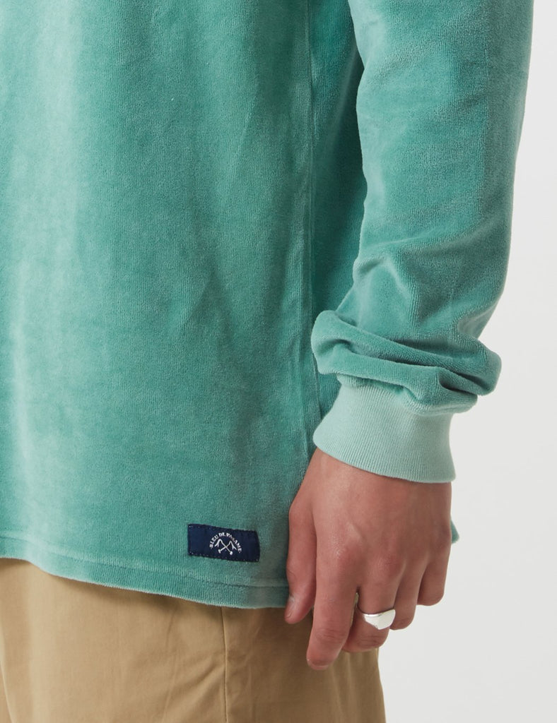 Bleu De Paname Peau De Peche Sweatshirt - Mousse Green - Article