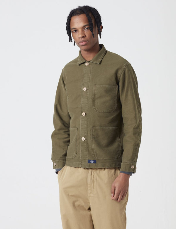 Bleu De Paname Veste De Comptoir Jacket - Kaky Military Green - Article