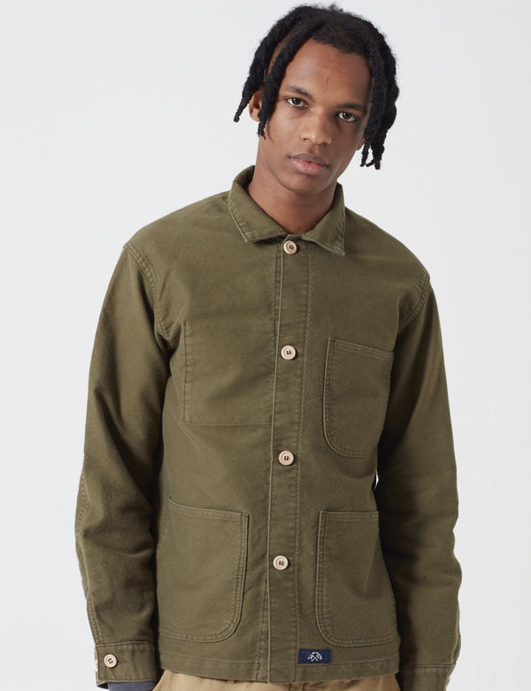 Bleu De Paname Veste De Comptoir Jacket - Khaki Military Green - Article.