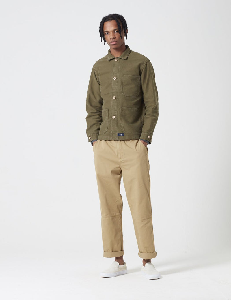 Bleu De Paname Veste De Comptoir Jacket - Khaki Military Green - Article