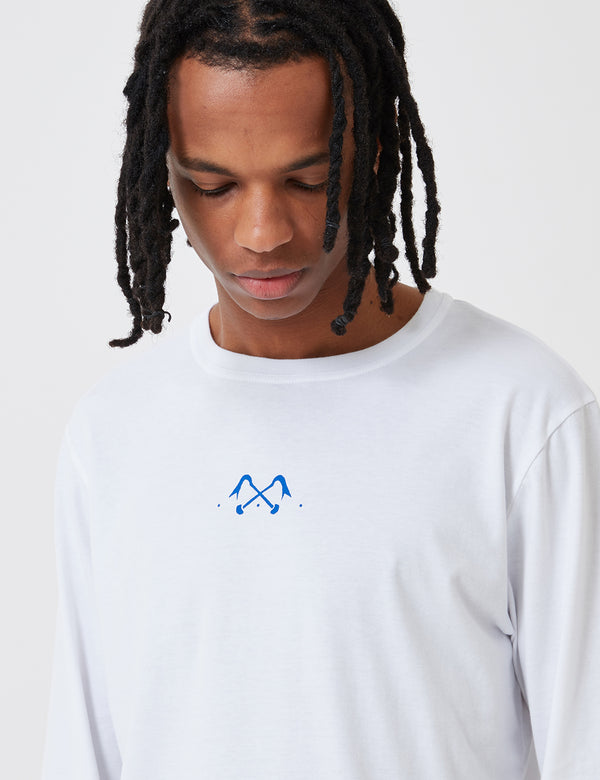 Bleu De Paname Pied Biche and Bleu Long Sleeve T-Shirt - White