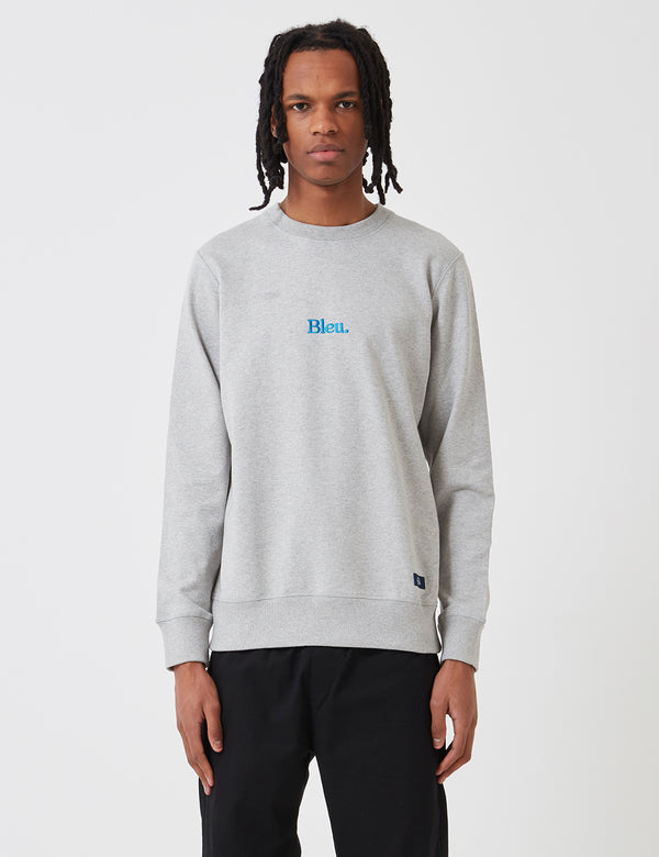 Bleu De Paname Embroidery Sweatshirt - Grey