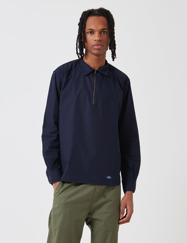 Bleu De Paname Zip Shirt - Navy Blue