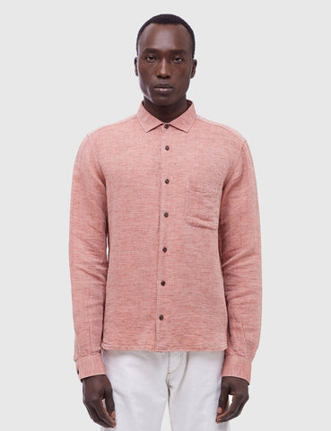 YMC Curtis Pique Shirt - Red