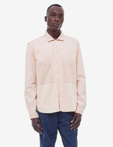 YMC Doc Savage Herringbone Shirt - Pink