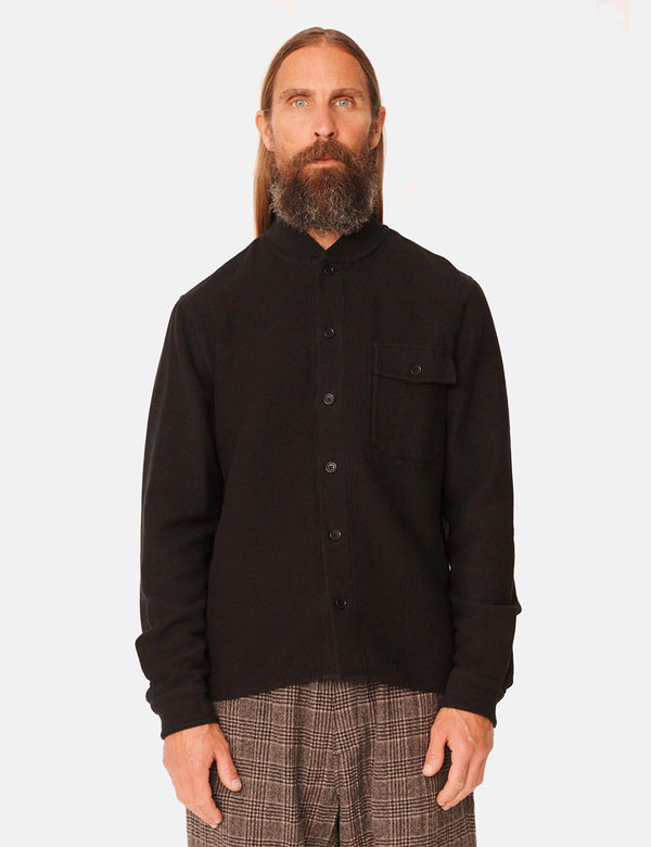 YMC Delinquents Rib Collar Shirt - Black