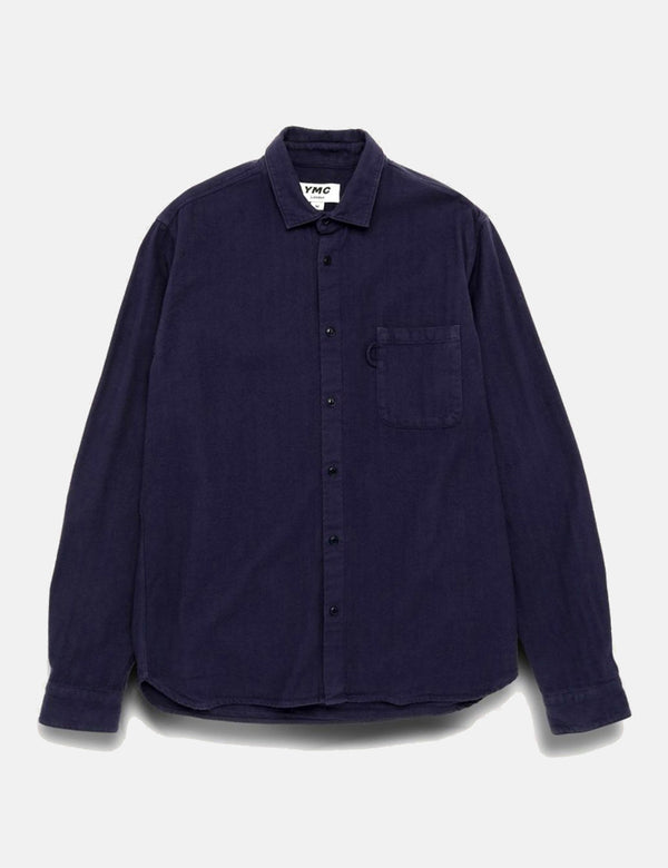 YMC Curtis Shirt - Navy Blue