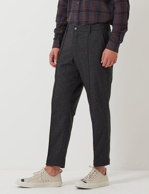 YMC Hand Me Down Trousers (Wool) - Charcoal Grey