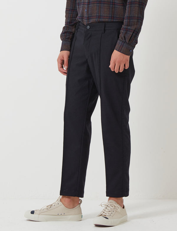 YMC Hand Me Down Trousers (Wool) - Navy Blue