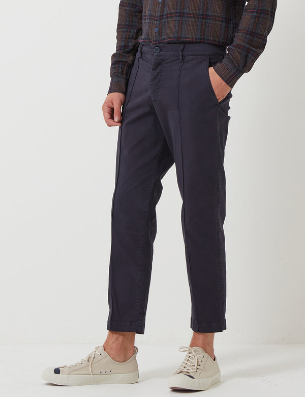 YMC Hand Me Down Trousers (Twill) - Navy Blue