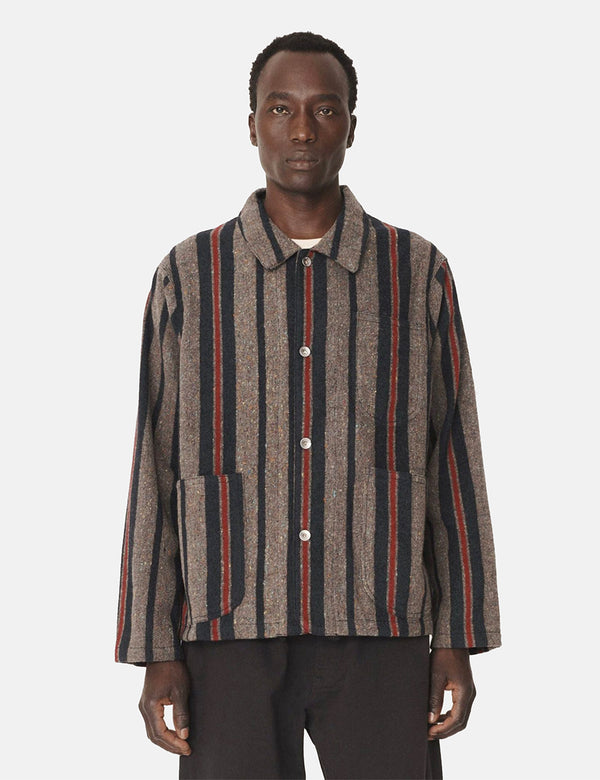 YMC Cubist Jacket (Stripe) - Grey/Multi