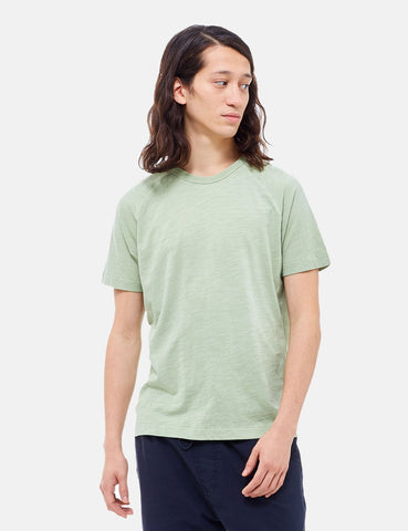 YMC Television Raglan T-Shirt - Light Green